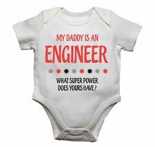 My Daddy Es Un Lo Que El Ingeniero Super Power Hace Yours Have? Bebé Camisetas