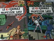 BLAKE MORTIMER-3 FORMULE PROFESSOR SATO- COMPLETA 1/2 volumi cartonati rari