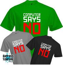 Computer dice di no-T shirt, Geek, tecnologia, PC, divertente parole di testo, la qualità, nuovo