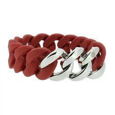 Armband Damen HANSE-KLUNKER ORIGINAL Edelstahl Silikon rot silber 106785