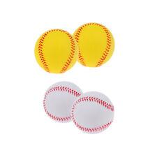 MagiDeal 2 Pack Soft Bouncy Ball Training Practice Game Pu Baseball Softball