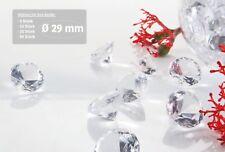 Dekosteine klar Diamanten 29 mm 5 - 50 Stück Tischdeko Hochzeit Deko Streuteile