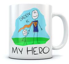 Daddy Is My Hero - Super Dad Coffee Mug Gift Idea for Father's Day Ceramic Mug