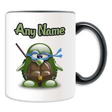 Personalised Gift Ninja Turtles Penguin Mug Money Box Cup Movie Hero Leonardo
