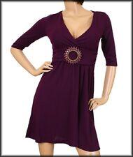 WOMENS DRESS Jeweled babydoll Jersey knit S M L XL