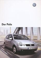 VW Polo Prospekt 12 02 brochure 2002 Auto PKWs Autoprospekt Deutschland Europa
