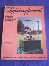 LAPIDARY JOURNAL - 'THE MECHANICAL NIGHTINGALE' - June 1977 v 31 # 3