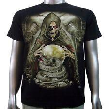 Death Grim Reaper Skull Snake Crystal Ball Glow In Dark Tattoo Men T-shirt M & L