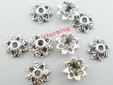 25pz coppette fiore 8x3mm  colore argento tibet