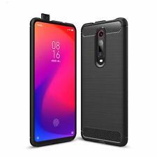 Coque Etui pour Xiaomi Mi 9T Pro Housse Silicone brossée Fibre de carbone [Noir]
