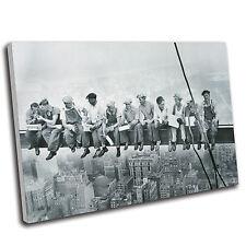 Pranzo uomini su una trave primaria tela stampa di qualità Premium Galleria Grade
