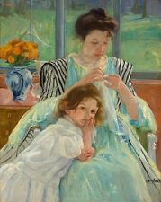 "Mary Cassatt : ""Young Mother Sewing"" (1900) — Giclee Fine Art Print"