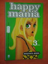 HAPPY MANIA- N° 3- di 11- DI-MOYOCO ANNO-MANGA-STAR COMICS- NUOVO