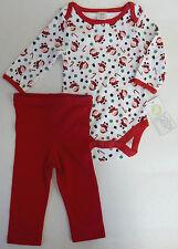 Baby Gear 3 6 Months Santa Holiday Bodysuit & Pants Christmas Set Baby Unisex