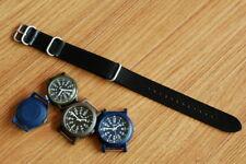 Atelier Du Cuir Leather military watch strap black color ( 18, 20, 22, 24&26mm)