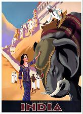 0054 vintage travel poster art-INDE