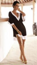 Vestito Copricostume Kaftan Donna Mini Dress Woman Mini Cover up Chiffon 110064