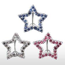 """Bauchnabelpiercing """"Star Line"""" 3 Farben oder Set NEW -- PIERCINGS von ALLFORYOU"""