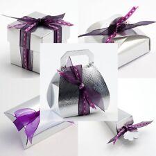 Silver Silk Wedding Favour Gift Boxes DIY