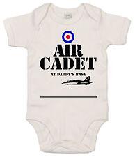 """GRACIOSO Body de bebé"""" Aéreo CADETE en de Daddy Base """" Raf Airforce body"""