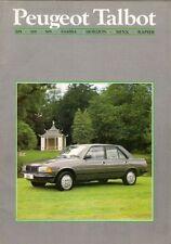 Peugeot Talbot Samba Horizon Minx Rapier 205 305 505 Late 1985 UK Sales Brochure