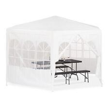 Pavillon 6-eckig mit Seitenwänden Bierzelt Partyzelt  2x2x2x2,5m weiß