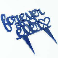 Forever nunca propuesta Boda Compromiso para Decoración de Pasteles Topper Espejo Escrito