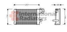 Intercambiador de calor, interior calefacción para calefacción/ventilación Van Wezel 58006062