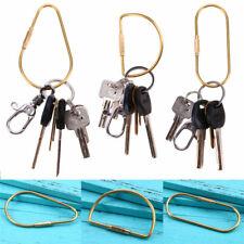 Unisex Outdoor Key Ring Keychain D Buckle Retro Storage Brass Fashion Lot