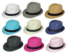 Chapeau style Borsalino pour enfant mixte, taille 52, chapeau été en paille neuf
