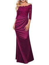 Spitze Abendkleid Ballkleid Partykleid Kleid Brautjungfern 3/4 Ärmel S-2XL BC453