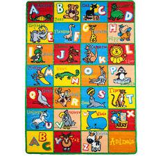 Large Classroom Rugs for Kids Alphabet ANIMAL New Design 2016 3x5-5x8-8x11