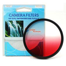 Graduated Red Color Lens Filter Screw Mount 46/49/52/55/58/62/67/72/77/82 mm