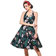 Women Spring Summer Vintage Retro 1950s 50s Elegant Halter Straps A Line Dress