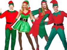 Adulto Disfraz de Duende Mujer Navidad Hombre Ayudante Santa