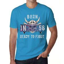 58 Ready to Fight Homme T-shirt Bleu Cadeau D'anniversaire