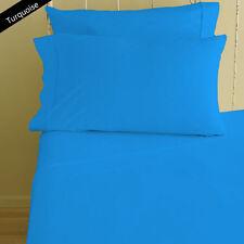 Best Superior 300/600/1000TC  EgyptianCotton Solid Duvetcover+PillowCase UK Size