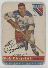 1954-55 Topps #2 Bob Chrystal New York Rangers RC Rookie Hockey Card