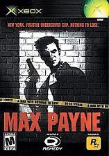 Max Payne (Microsoft Xbox, 2001, Complete)