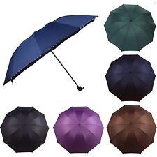 pour hommes femmes solide pliage parapluies noir bleu marine bordeaux marron