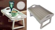 Wooden Sofa Armchair Tray Retro Vintage Media Remote Holder Organiser Snack Arm