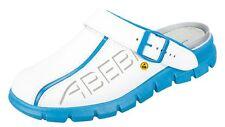 ABEBA® ESD-Berufsschuh Dynamic Clog weiß/blau Glattleder 37312-000