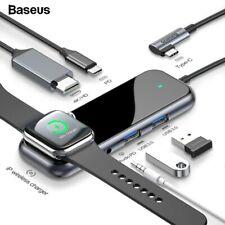 Baseus USB Type C HUB to HDMI RJ45 Multi USB 3.0 Power Adapter Dock 3 Ports