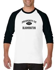 Gildan Raglan T-shirt 3/4 Sleeve USA City Property Of Bloomington