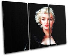Marylin Monroe Movie Greats TREBLE CANVAS WALL ART Picture Print VA