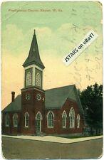 c. 1909 KEYSER, WV, PRESBYTERIAN CHURCH VIEW POSTCARD