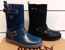 Ladies Oxygen Piova Leather Mid Calf Zip Up Boots