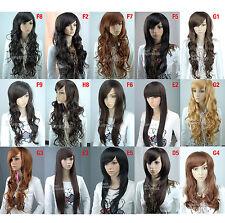 Synthétique Perruque Femmes Cheveux Mode Naturel Longue Bouclée droit ondulé gb