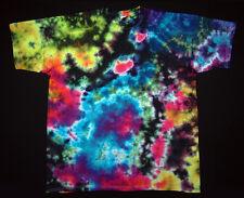 T-SHIRT TG S - 5xl a Maniche Corte A MANO COLORATI hippie tie dye Batik Flower Power Goa NUOVO