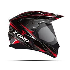 Zoan Synchrony Duo-Sport Hawk Black Red Electric Lens Snowmobile Helmet